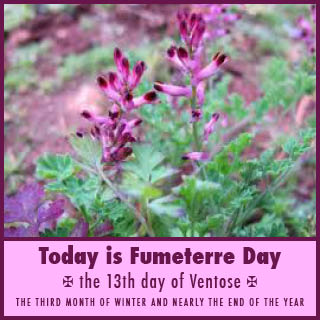 1st March is 'Fumiterre', according to the French Republican calendar of 1793-1805
