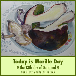 Today is 'Morille' Day, and not April Fools day ! and no, this is not a joke, it is true – but bizarre !