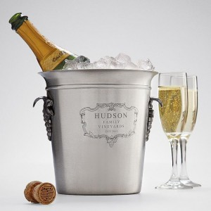 A personalised wine bucket, leave your mark and be remembered for ever . . .