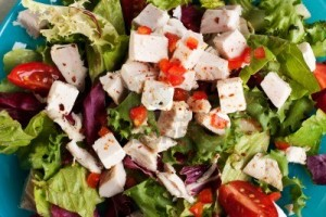 16265727-close-up-of-chicken-salad-with-feta-lettuce-and-tomatoes