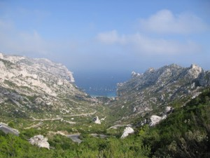 The approach to the Calanque de Sormiou, where chef Andy Floyd and his family had a great afternoon at the restaurant Le Chateau.